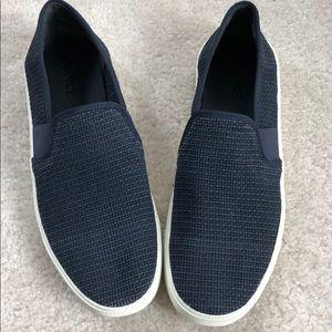 Vince Preston navy slide on sneakers 7.5